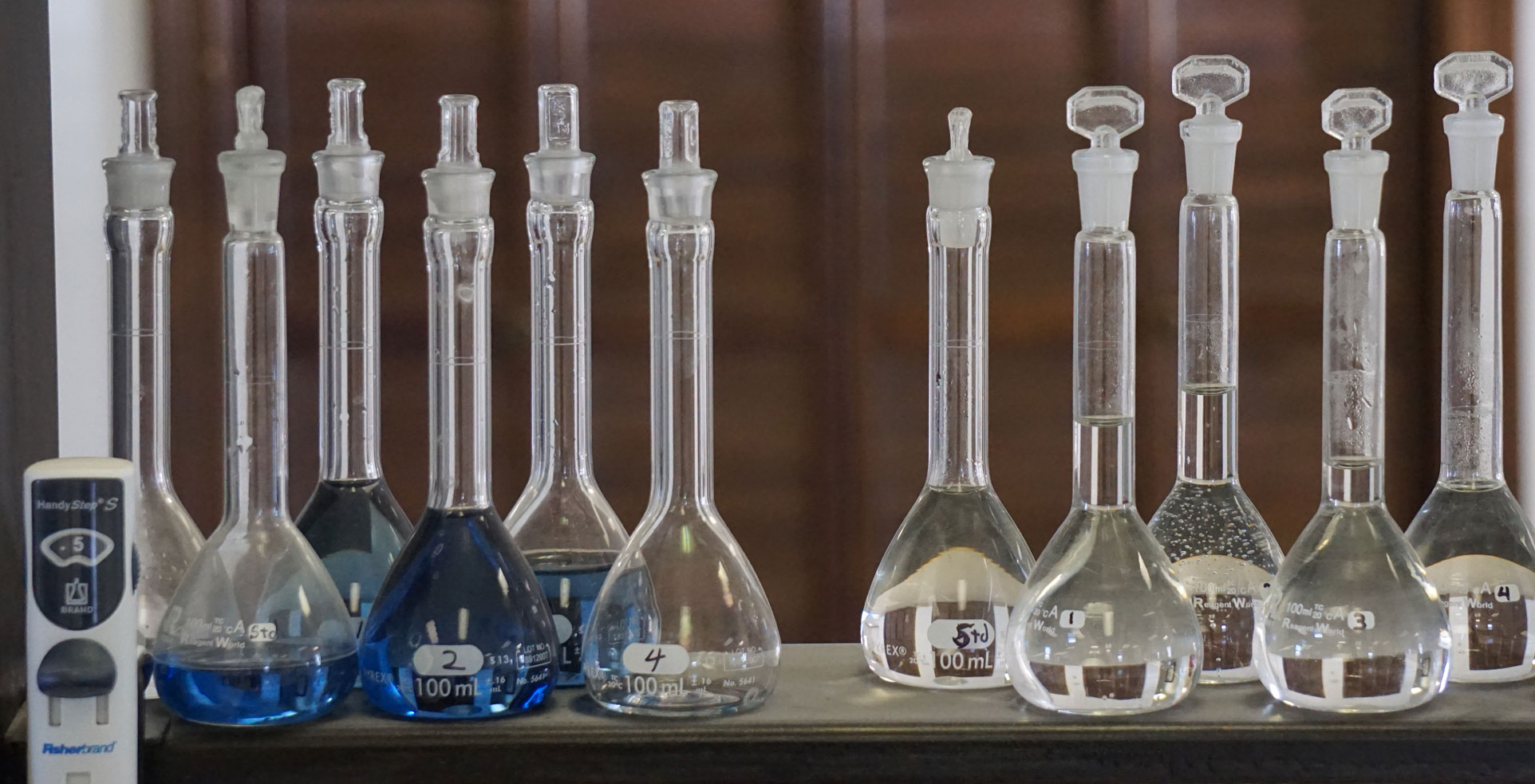 Photo of beakers in the laboratory